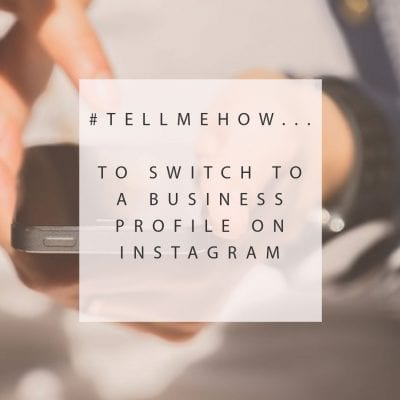 How to update your instagram account to business profile